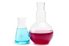 De chemische apparatuur van het laboratoriumglaswerk Stock Foto's