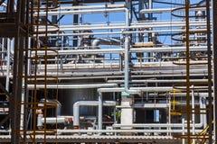 De chemische fabriek van de productiepijp royalty-vrije stock foto
