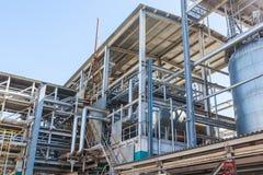 De chemische fabriek van de productiepijp royalty-vrije stock fotografie