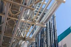 De chemische fabriek van de productiepijp royalty-vrije stock foto's
