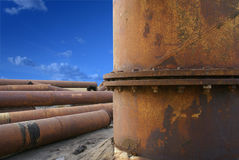 De chemische fabriek van Maardu Royalty-vrije Stock Afbeeldingen