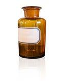 De chemische fles van het flessen bruine glas Royalty-vrije Stock Fotografie