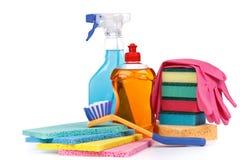 De chemische goederen van het huishouden stock fotografie
