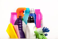 De chemische producten van het huishouden Royalty-vrije Stock Foto