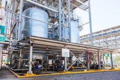 De chemische productie van de tankopslag stock foto's
