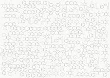 De chemische structuur op een witte achtergrond, chemie Royalty-vrije Stock Fotografie