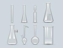 De chemische van het de flesglaswerk van het laboratorium 3d laboratorium analyse van de de buis vloeibare biotechnologie en medi royalty-vrije illustratie