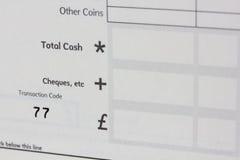 De cheque van de bank royalty-vrije stock afbeeldingen