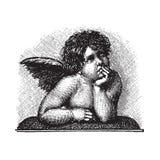 De Cherubijn van de Liefde van Raphael, vectorized gravure Stock Afbeelding