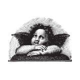 De Cherubijn van de Liefde van Raphael, vectorized gravure Stock Fotografie