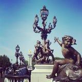 De cherubijnbrug van Parijs Stock Fotografie