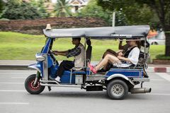 De chiangmaidienst van de Tuk tuk taxi in stad en rond Royalty-vrije Stock Fotografie