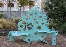 ` De chimères de glacier de ` par Elizabeth Y Akamatsu, Hall Park, Frisco, le Texas Images stock
