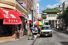 De Chinatown van Boston stock foto's
