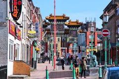 De Chinatown van Liverpool stock afbeeldingen