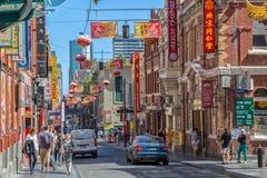 De Chinatown van Melbourne Royalty-vrije Stock Afbeeldingen