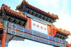 De Chinatown van de oriëntatiepunt Oude Stad in Portland, Oregon Het is liste royalty-vrije stock fotografie