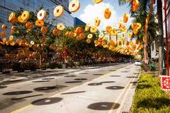 De Chinatown van Singapore Stock Afbeeldingen