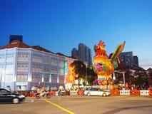 De Chinatown van Singapore ` s - Jaar van de Haan Stock Foto's