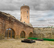 De Chindia-Toren (Turnul Chindiei in Roemeen) in Targoviste royalty-vrije stock afbeeldingen