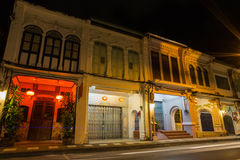 De Chinees-Portugese bouw bij Oude Phuket-stad Stock Fotografie
