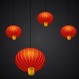 De Chinese Achtergrond van de Nieuwjaarlantaarn Royalty-vrije Stock Foto's