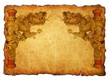 De Chinese achtergrond van de stijl gouden draak 2012 Royalty-vrije Stock Foto