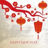 De Chinese Achtergrond van het Nieuwjaar Stock Foto