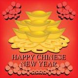 De Chinese Achtergrond van het Nieuwjaar Stock Foto's