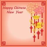 De Chinese Achtergrond van het Nieuwjaar Royalty-vrije Stock Foto's
