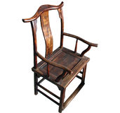 De Chinese Antieke (geïsoleerdeo) Stoel van het Meubilair Stock Fotografie