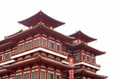 De Chinese Architectuur van de Bouw van de Tempel stock foto
