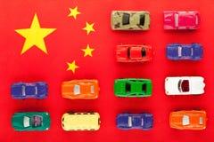 De Chinese autoindustrie (1) stock foto's