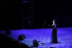 De Chinese beroemde zanger xiufen-TheFamous Wang van belscanto en classicconcert Stock Foto