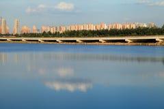 DE CHINESE BOUW VAN DE STAD Stock Afbeelding