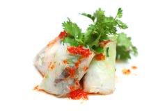 De Chinese Broodjes van de Lente (Popia) Stock Foto