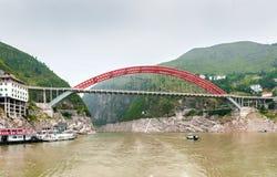 De Chinese Brug van de Rivier Yangtze royalty-vrije stock afbeeldingen