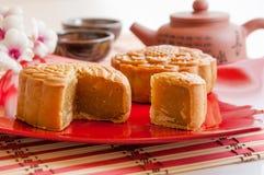 De Chinese Cake van de Maan Royalty-vrije Stock Foto