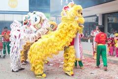 De Chinese Dans van de Leeuw Royalty-vrije Stock Fotografie