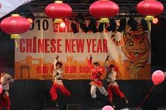 De Chinese Dansers van het Nieuwjaar Stock Afbeelding
