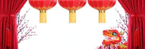 De Chinese Decoratie van het Nieuwjaar Stock Afbeeldingen