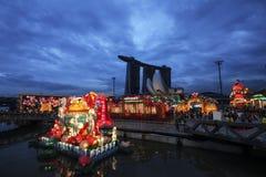 De Chinese decoratie van het Nieuwjaar in Singapore Stock Afbeeldingen