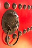 De Chinese deur van het stijlhandvat Stock Afbeeldingen