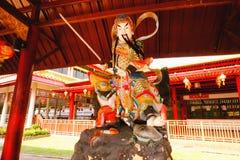 De Chinese die godsbeeldhouwwerken in Chinese tempel worden getoond Royalty-vrije Stock Fotografie