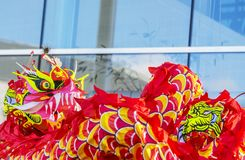 De Chinese Draak - het Jaar van de Hond, 2018 Royalty-vrije Stock Afbeelding