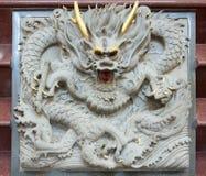 De Chinese Gravure van de Steen van de Draak Royalty-vrije Stock Fotografie