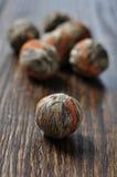 De groene Ballen van de Thee met de Bloem van het Litchi Stock Foto's