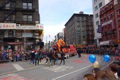 De Chinese het Nieuwjaarviering van 2014 in NYC 22 Royalty-vrije Stock Foto