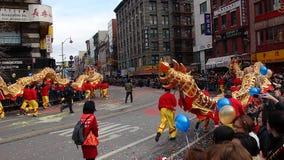 De Chinese het Nieuwjaarviering van 2014 in NYC 32 Royalty-vrije Stock Foto's