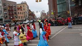 De Chinese het Nieuwjaarviering van 2014 in NYC 39 Stock Foto